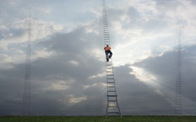 Обои climb, ladders, Ascent, choices, many paths to Heaven