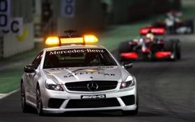 Картинка Mercedes-Benz, Машина, Formula-1, AMG, SL63, Формула-1, Safety car