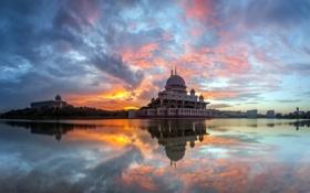 Обои город, Malaysia, Putra Mosque