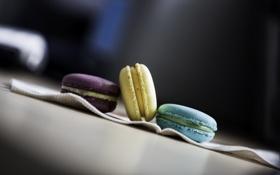 Обои макро, цвет, еда, печенье