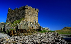 Обои камни, замок, башня, мох, руины, Mingarry Castle
