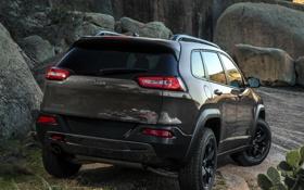 Обои зад, Jeep, машина, Cherokee, внедорожник, Trailhawk