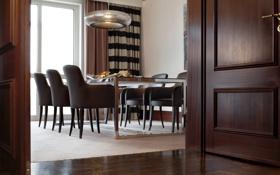 Обои дизайн, дом, стиль, комната, вилла, интерьер, столовая