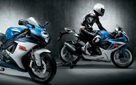 Обои стены, освещение, мотоцикл, суперспорт, спортивный, Спортбайк, мотогонщик