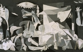 Обои масло, живопись, холст, 1937, Pablo Picasso, Герника, Guernica
