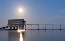 Обои Bembridge Moonrise, reflections, moon