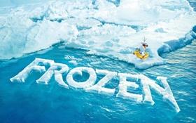 Обои лед, буквы, океан, айсберг, текстуры, дисней, disney