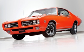 Обои 1969, Coupe, Pontiac, GTO, Понтиак, Hardtop, Мускул кар