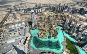 Обои city, dubai, united arab emirates, lake
