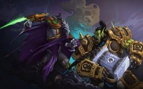 Картинка starcraft, Warcraft, орк, Zeratul, Thrall, Heroes of the Storm, Dark Prelate