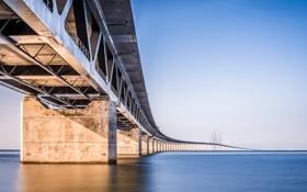 Картинка вода, мост, пролив, сооружение