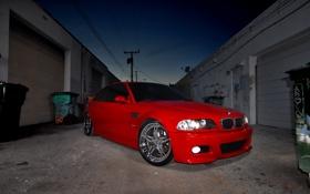 Картинка BMW, red, tuning, e46