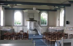 Обои дизайн, стиль, интерьер, часовня, Bovenknipje Church interior