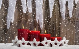 Обои christmas, новый год, happy new year, new year, рождество, candles, праздник