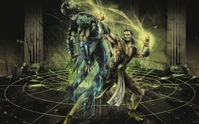 Обои art, scorpion, soul, mortal kombat, Shang Tsung