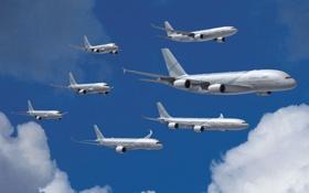 Обои Самолет, Airbus, Модели