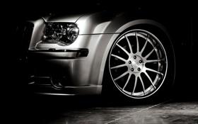Обои фара, колесо, тачки, чёрно-белая, чёрный фон, cars, auto wallpapers