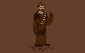 Обои шерсть, Star Wars, Звездные Войны, бритва, Чубакка, Chewey, Chewbacca