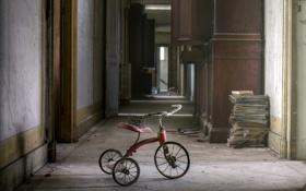 Картинка велосипед, дом, фон