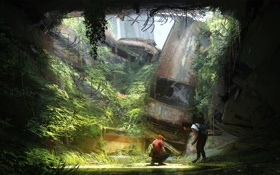 Обои апокалипсис, арт, элли, The Last of Us Remastered