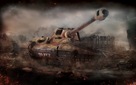 Обои Германия, танк, танки, Germany, WoT, Мир танков, Tiger II