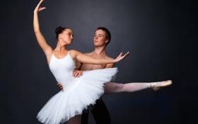 Картинка девушка, танец, парень, балет