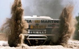 Обои песок, авто, гонка, пыль, грязь