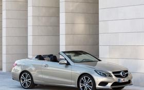 Картинка silver, серебристый, мерседес, car, Cabrio, E 350, BlueTec