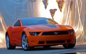 Обои авто, оранжевый, Ford, Mustang - Giugiaro