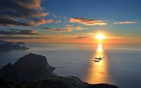 Обои море, солнце, свет, игра, дорожка