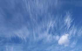 Обои лето, небо, облака, голубое