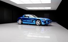 Картинка Mercedes-Benz, Авто, Синий, Мерседес, AMG, Coupe, SLS