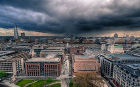Обои англия, лондон, Clouds, london, Storm, england, Thames River