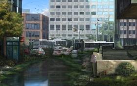 Картинка город, арт, конец света, The Last of Us, Environment Art 1