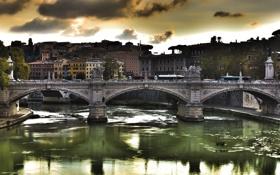 Обои мост, рим, Ponte Vittorio