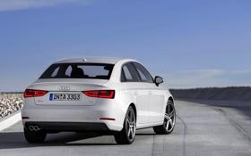 Картинка Audi, Небо, Ауди, Белый, Машина, День, Седан