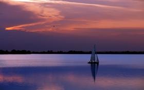 Обои пейзаж, вода, вечер