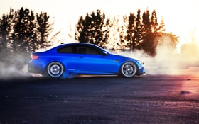 Обои бмв, burnout, автообои, car, hq wallpaper, bmw m3