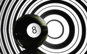 Обои шар. цифра, чёрно- бёлое, обои, фон, картинка. фото. изображение, минимализм