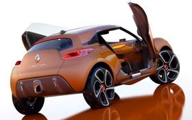 Обои Concept, концепт, Renault, вид сзади, открытые двери, Captur