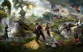 Картинка Action, Fantasy, Rachel Weisz, Nature, Dwarf, Mila Kunis, James Franco