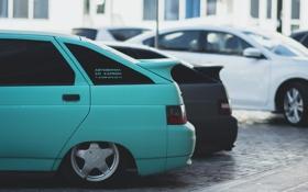 Обои машина, авто, крыло, Lada, auto, 2112, ВАЗ