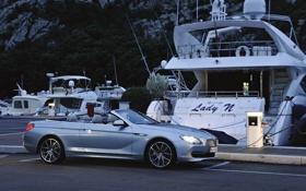 Картинка Вечер, Авто, BMW, Яхты, Машина, Бумер, Кабриолет