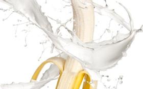 Картинка капли, брызги, свежесть, жёлтый, всплеск, молоко, фрукт