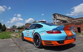Обои машина, 997, Porsche, порше, вид сзади, Turbo, задок