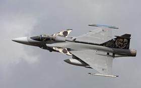 Обои истребитель, полёт, Gripen, Saab JAS39C