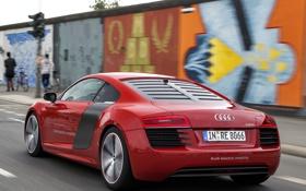 Обои машина, Audi, Prototype, в движении, задок, e-Tron