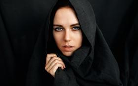 Обои девушка, портрет, Россия, Женя, накидка