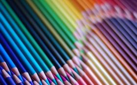 Обои background, rainbow, Pencils, фон, карандаши, радуга