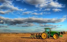 Обои неюл, поле, трактор